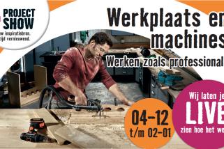 Projectshow werkplaats en machines Hornbach