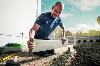 Projectshow Hornbach tegels leggen