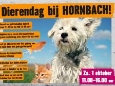 Zaterdag 1 oktober Dierendagfeest Hornbach Tilburg
