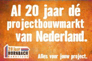 Hornbach 20 jaar in Nederland